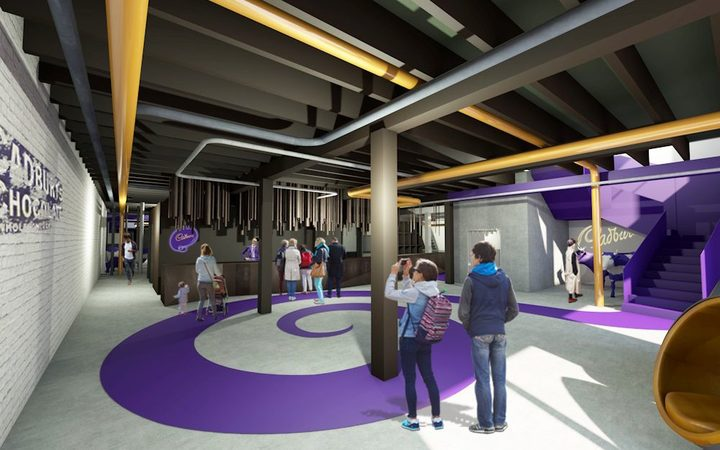 An artist's impression of the entry to the revamped Cadbury World attraction.
