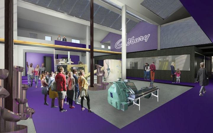 An artist's impression of the ground floor at the revamped Cadbury World attraction.
