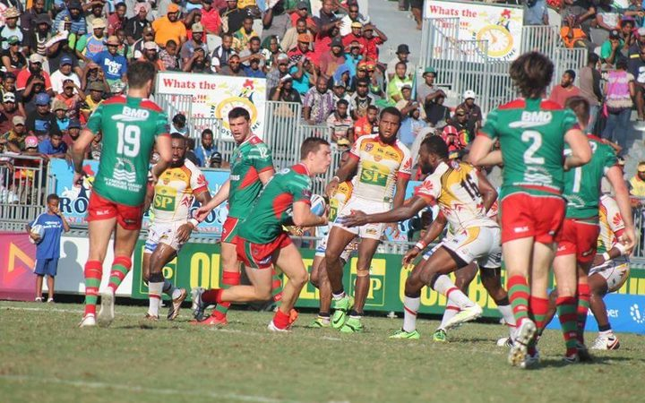 The PNG Hunters clinched the Intrust Super Cup minor premiership with a win over Wynnum Manly.