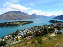Lake Wakatipu changed colour after the slip.