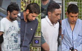 The four men suspected of involvement in the terror cell that carried out twin attacks in Barcelona and Cambrils, (from left) Mohamed Aallaa, Salah El Karib, Driss Oukabir and Mohamed Houli Chemlal.