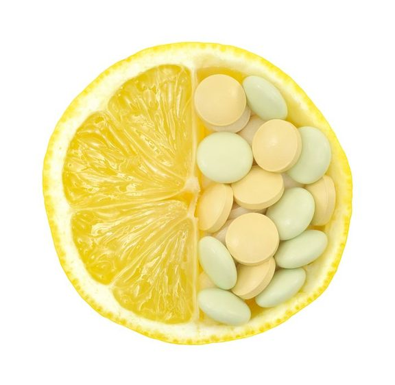 Lemon and vitamin supplements