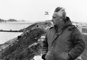 Ariel Sharon on the Right Bank of the Suez Canal in 1974.