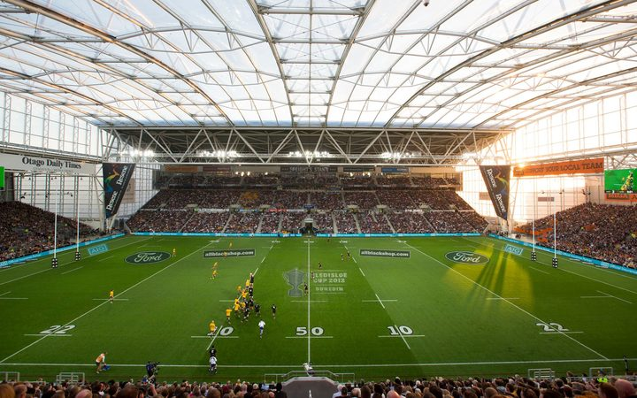 Forsyth Barr stadium in Dunedin, during the last match between the All Blacks and Wallabies in Dunedin in 2013.