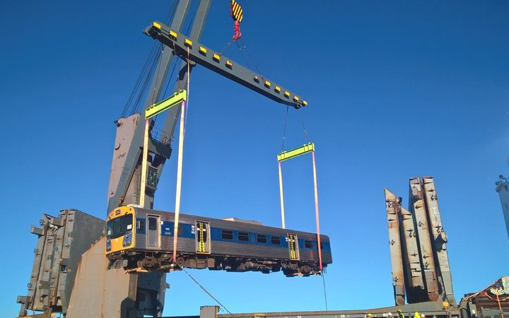 Auckland's old trains off to Mozambique at last