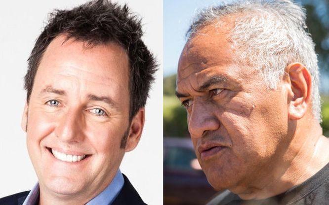TV host Mike Hosking and Māori Party president Tukoroirangi Morgan.