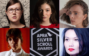 The 2017 Silver Scroll finalists, clockwise from top left: Nadia Reid, Lorde, Chelsea Jade, Bic Runga and Aldous Harding.