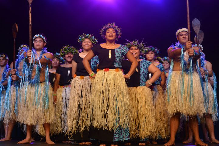 Porirua College's Tokelauan performers stand proud at this year's Northern Polyfest.