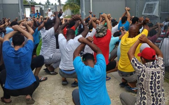 Peaceful protest action at the Manus Island detention centre, 25-8-17.