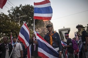 Anti-government protesters in Bangkok.