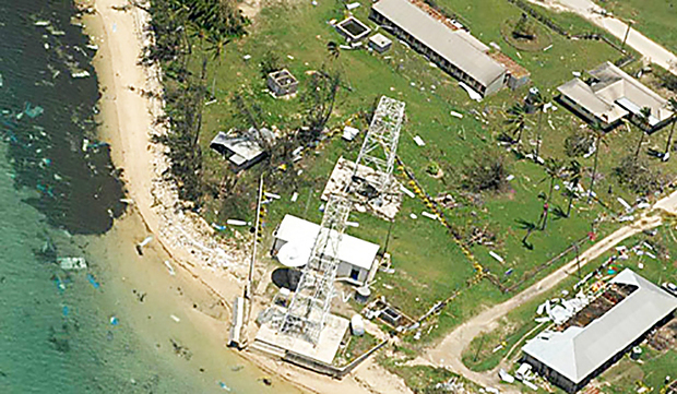 Islands in the Ha'apai group have been badly damaged.