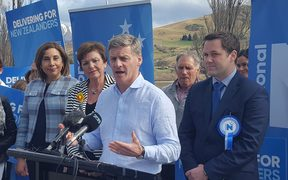 National Party leader Bill English making the announcement.