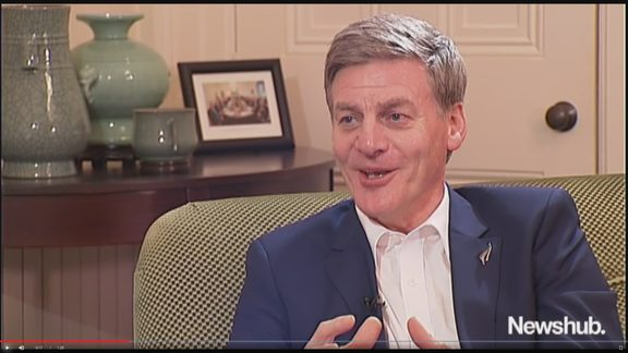 Bill English revealed his acne anguish in an up close and personal chat with Newshub.
