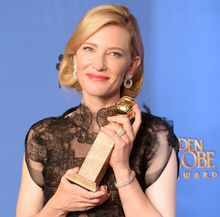 Cate Blanchett at the Golden Globes.