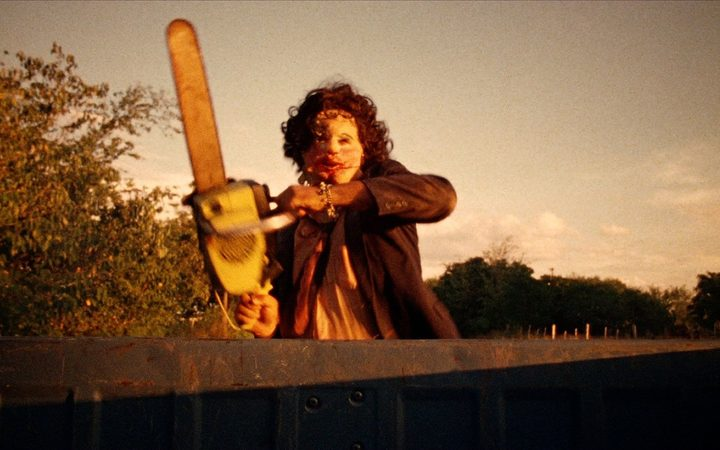 The Leatherface character from Tobe Hooper's The Texas Chain Saw Massacre.