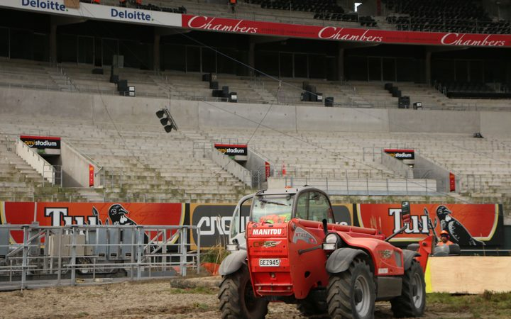 Work has begun dismantling the old stadium.