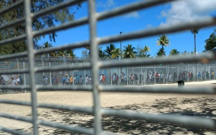 Protest at the Manus Island detention centre 28-8-17.