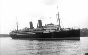 The RMS Niagara, which was sunk by German mines off Bream Head, Whangarei.