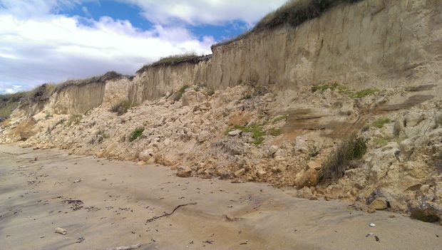 Ocean erosion threatens the coastal route.