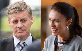 Bill English and Jacinda Ardern