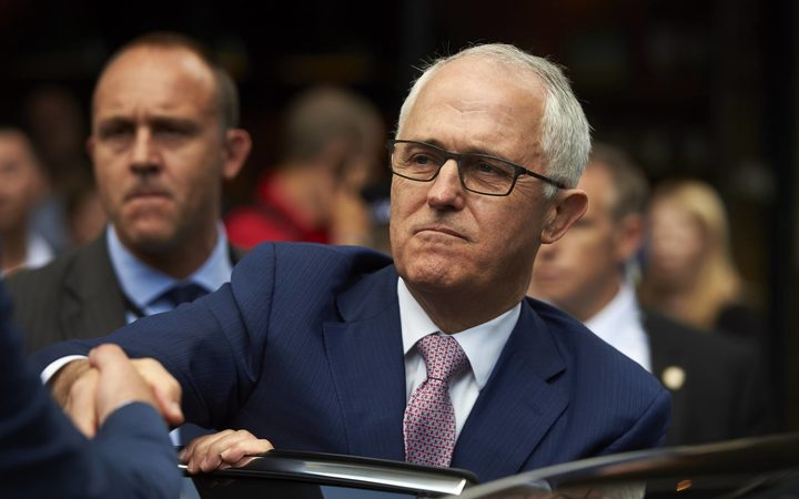 Australian Prime Minister Malcolm Turnbull after a visit to Borough Market in central London on July 10, 2017.