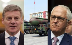 Bill English, Malcolm Turnbull, North Korea ballistic missiles