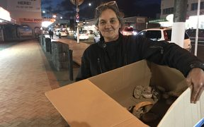 Debbie Munroe with some of her food parcels for the rough sleepers of Manurewa.