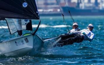 Alex Maloney and Molly Meech are leading the world champs in Portugal.