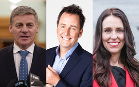 Bill English, Mike Hosking, Jacinda Ardern