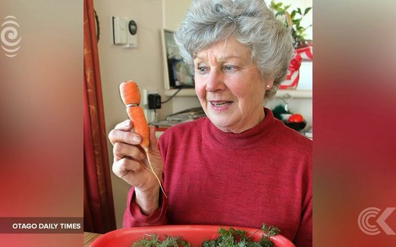 Lost ring turns up   embedded into a carrot