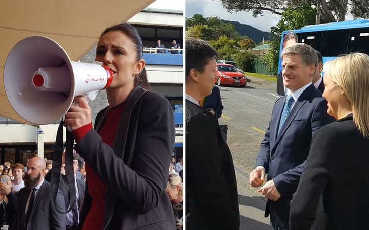 Jacinda Ardern and Bill English hit the campaign trail again.