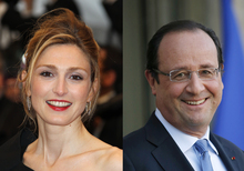 Julie Gayet and President Francois Hollande.