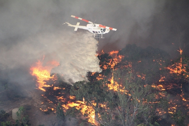 Fires were burning in Victoria's Grampians region on Friday.