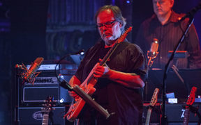 Guitarist Walter Becker of the band Steely Dan performs at the Beacon Theatre in New York City, 10 October 2015.