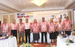 Country leaders gather for the 7th meeting of the Polynesia Leaders Group in Apia, Samoa in September 2017