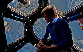Astronaut Peggy Whiston on the International Space Station.