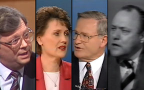 David Lange, Helen Clark, Jim Bolger and Robert Muldoon.