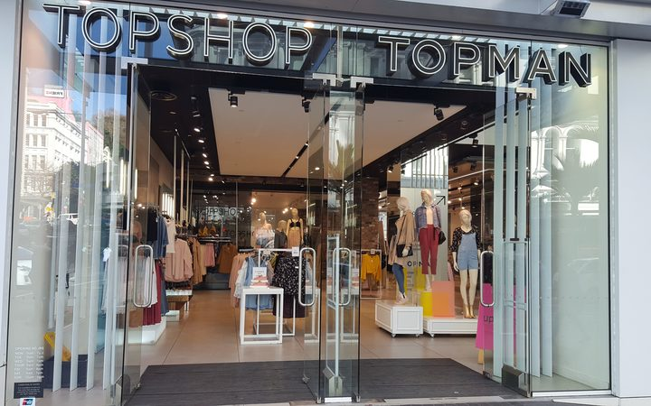 The entrance to the Top Shop store in central Auckland.