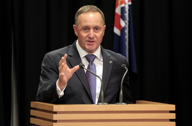 Prime Minister John Key outlines National's options at Parliament.
