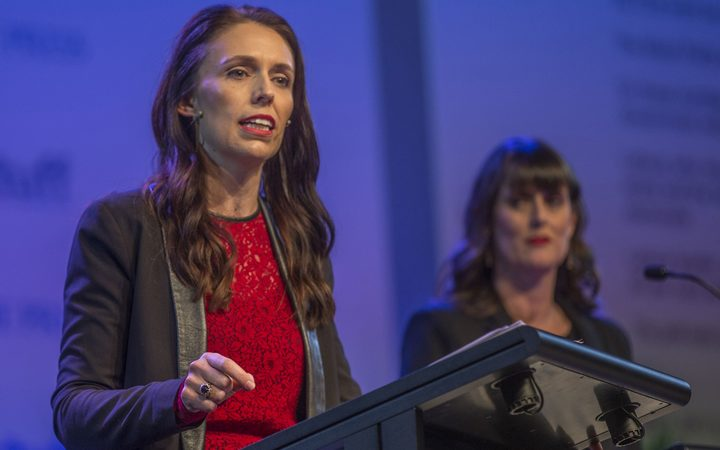 Jacinda Ardern at the Stuff leaders' debate.