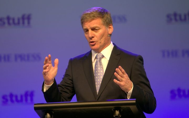 Bill English during the Stuff leaders debate.