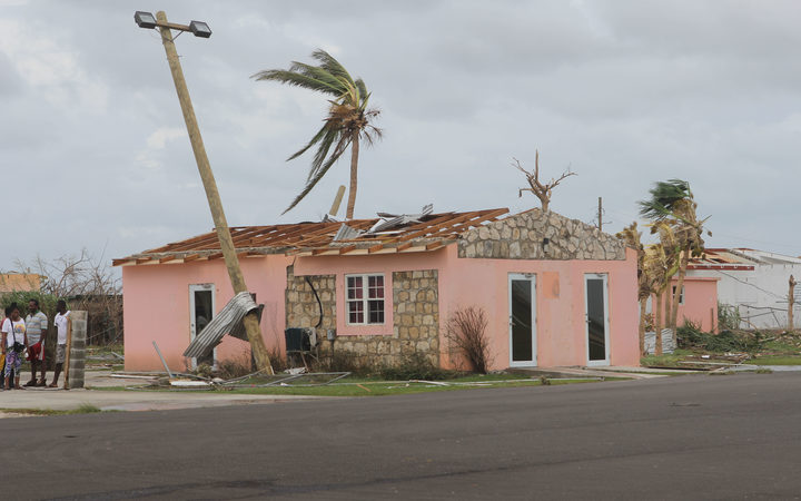 A destroyed house on the Island of Barbuda after Hurricane Irma hit the Island.
