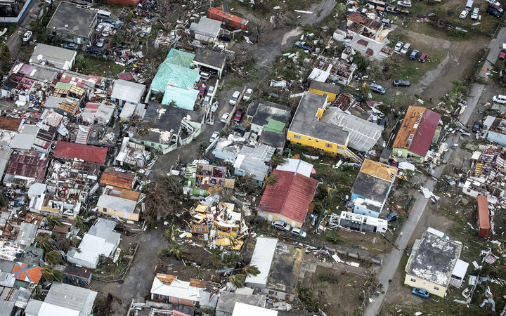 The damage from Hurricane Irma on the Dutch Caribbean island of Sint Maarten.