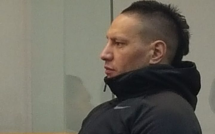 Rollie Heke appears for sentencing at the High Court in Wellington.