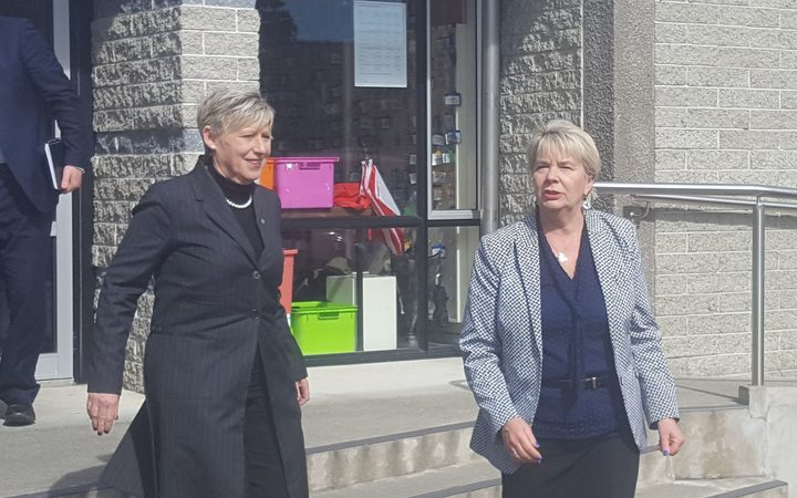 Lianne Dalziel and Nicky Wagner leave Synod today.