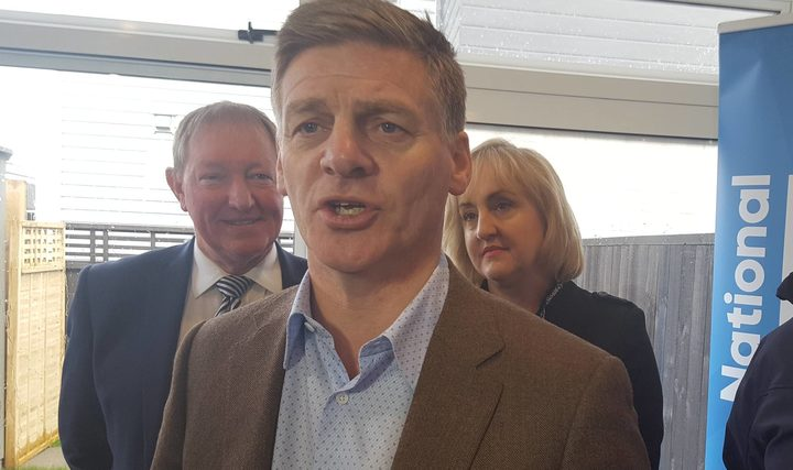 Bill English, Dr Nick Smith, and Amy Adams on Sunday announcing the policy. Photo / Jane Patterson