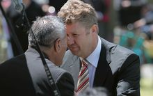 David Cunliffe is welcomed at Ratana Pa.