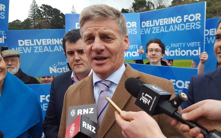 Bill English on the campaign trail today.