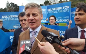Bill English on the campaign trail.