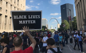 People protest the acquittal of white former police officer Jason Stockley for the murder of Anthony Lamar Smith